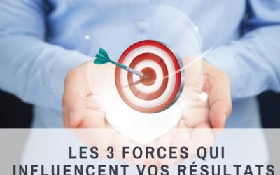 Les 3 forces qui influencent vos résultats